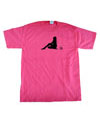 Mens Pink Silhouette t-shirt