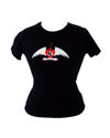 Ladies burning Heart t-shirt