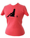Ladies Pink Silhouette t-shirt